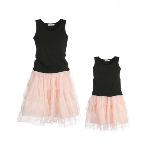 Mommy and Little Girl Matching Fluffy Tutu Dance Skirt 2