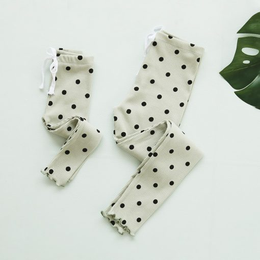 Mommy and Me Cotton Polka Dot Leggings 4