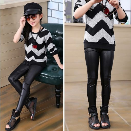 Chic Fashion polyester Leggings For Mother and daughter 2
