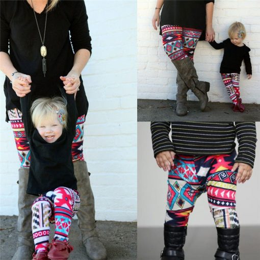 Mommy and Mini Me Tribal Print Leggings 3