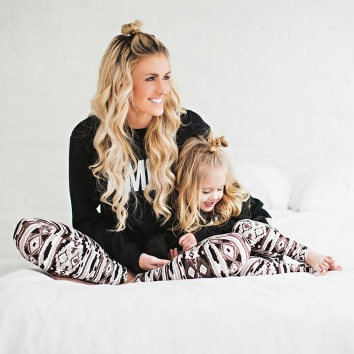 Mommy and Me Matching Soft Elastic Leggings 2
