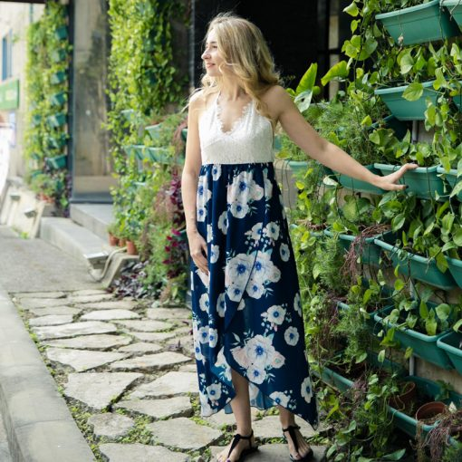 Mother And Dauhgter Floral Long Maxi Dresses 4