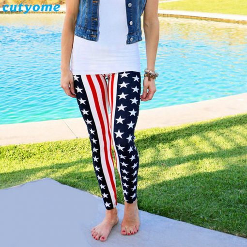 Mommy and Mini Me USA Flag print Matching Leggings 2