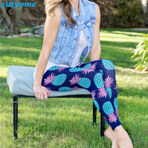 Mother and Daughter Pineapple Print Matching Leggings 3