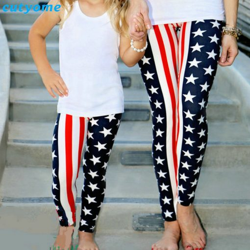 Mommy and Mini Me USA Flag print Matching Leggings 3