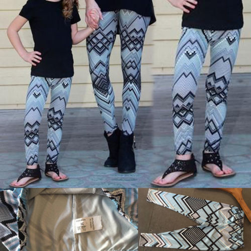 Matching Print leggings For Mother And Daughter 2