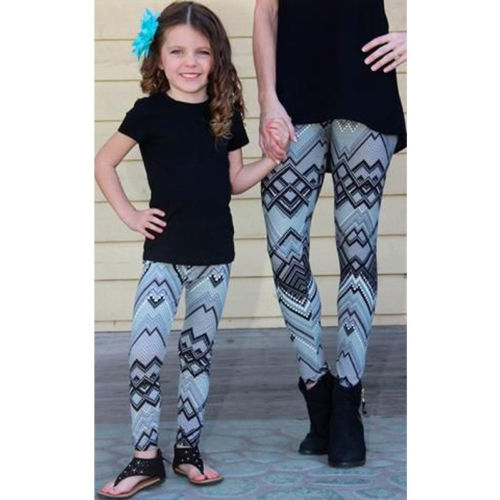 Matching Print leggings For Mother And Daughter 3