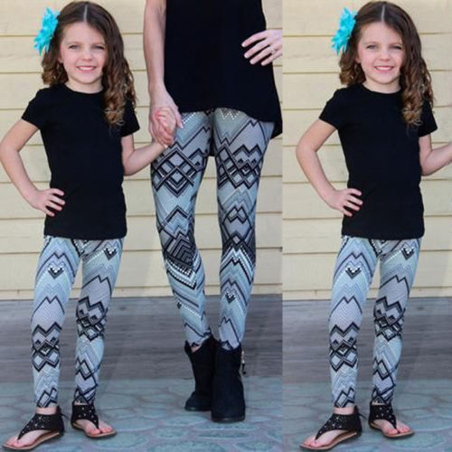 Matching Print leggings For Mother And Daughter 1