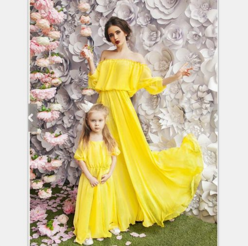 Beautiful Mother and Daughter Matching Maxi Dresses 5
