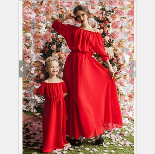 Beautiful Mother and Daughter Matching Maxi Dresses 3