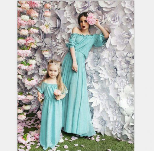 Beautiful Mother and Daughter Matching Maxi Dresses 4
