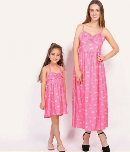Casual Mother and Daughter Matching Maxi Dresses 6