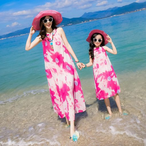Breezy Matching Floral Maxi Dress for Mother and Daughter 1