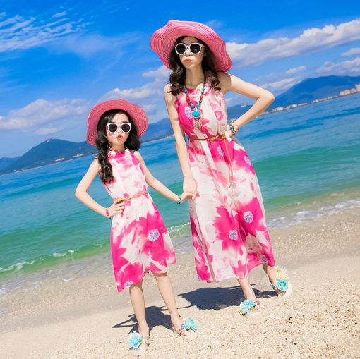 Breezy Matching Floral Maxi Dress for Mother and Daughter 2