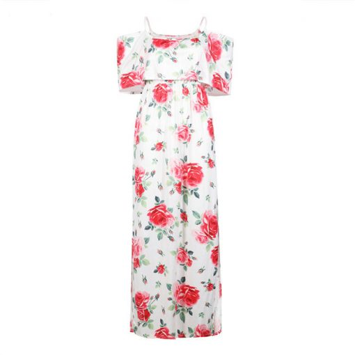 Floral Matching Maxi Dresses for Mother and Daughter 6