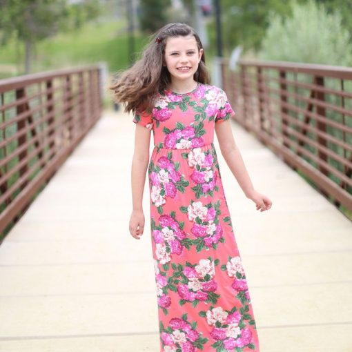 Floral Matching Maxi Dress For Mother and Daughter 5