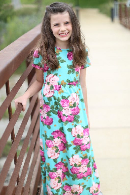 Floral Matching Maxi Dress For Mother and Daughter 4