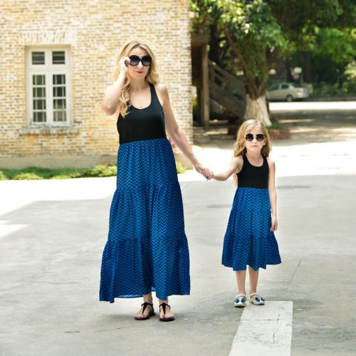 Casual Boho Matching Maxi Dresses for Mother and Daughter 4