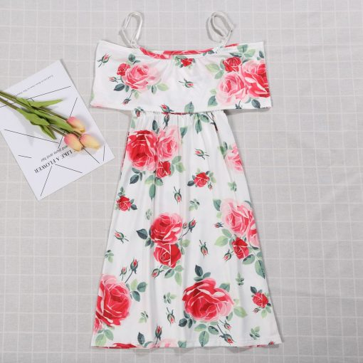 Floral Matching Maxi Dresses for Mother and Daughter 2