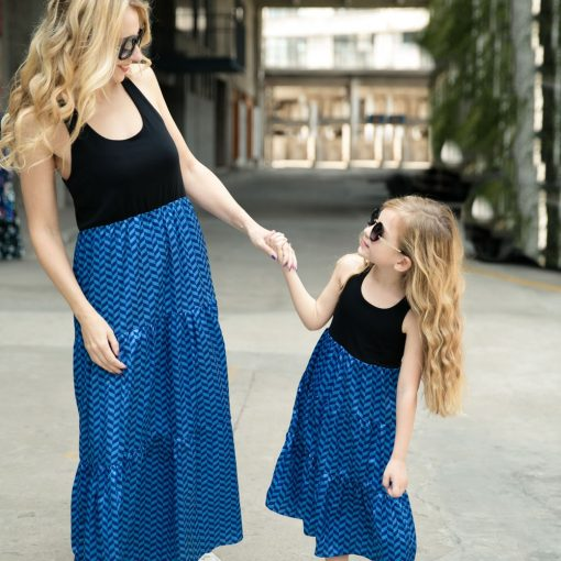 Casual Boho Matching Maxi Dresses for Mother and Daughter 3
