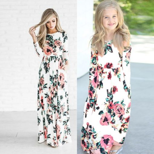 Beautiful Matching Maxi Dresses For Mother and Daughter 2