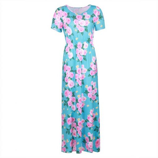 Floral Matching Maxi Dress For Mother and Daughter 3
