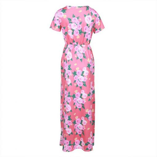 Floral Matching Maxi Dress For Mother and Daughter 2