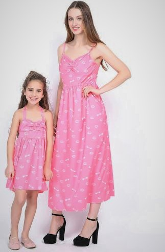 Casual Mother and Daughter Matching Maxi Dresses 3