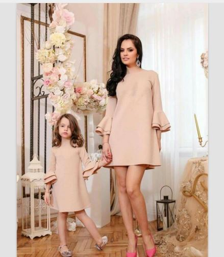 Chic Fashion Mother and Daughter Matching Maxi Dress 1