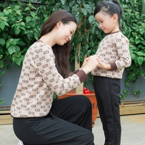 Stylish Matching Sweater for Mother and Daughter 1