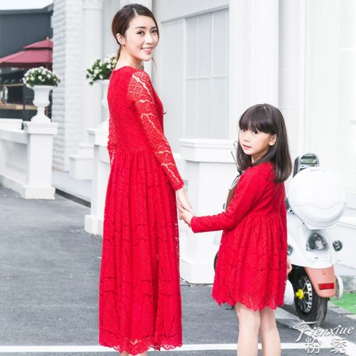Trendy Mother and Daughter Matching Dress 1