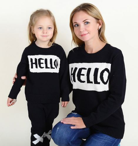 Matching Mother and Daughter Sweater 2