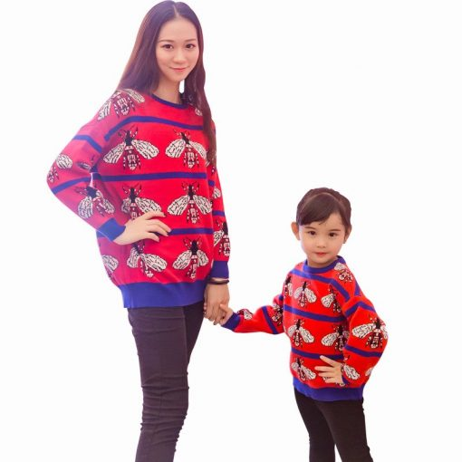 Casual Cozy Mother and Daughter Matching Sweater 1