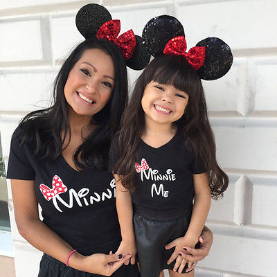 Cartoon Theme Cute Mother and Daughter Tops 1