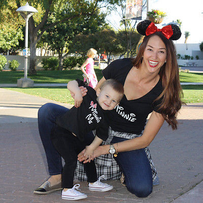 Cartoon Theme Cute Mother and Daughter Tops 2