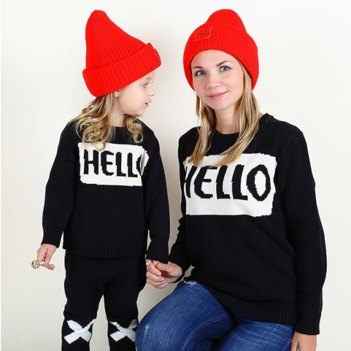 Matching Mother and Daughter Sweater 1