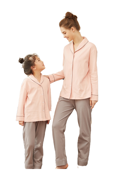 Graceful Mother and Daughter Matching Pajamas 2