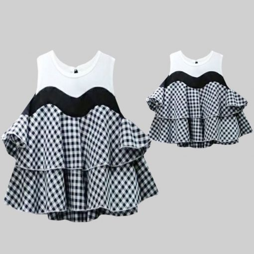 Mother and Daughter Matching Crop Top 1