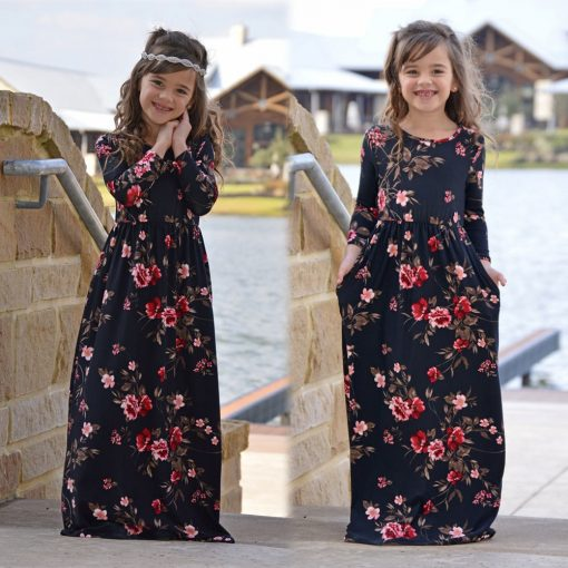 Matching Floral Maxi Dress for Mother and Daughter 2