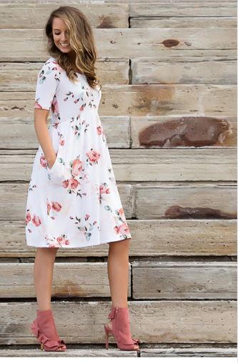 Floral Matching Mother and Daughter Maxi Dress 3