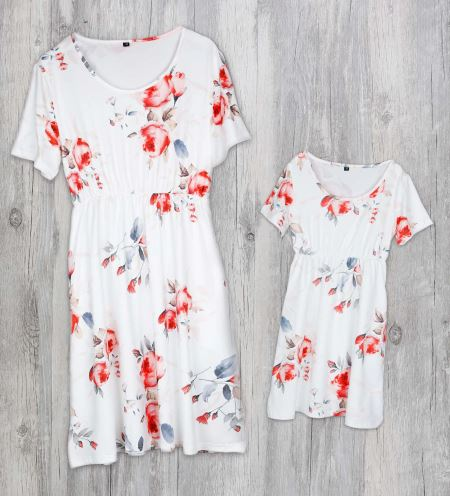 Floral Matching Mother and Daughter Maxi Dress 4