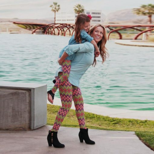 Mother and Daughter Matching Leggings 1