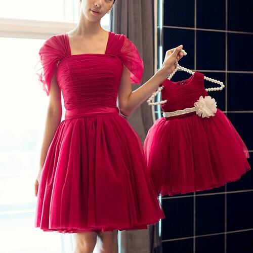 Mother and Daughter Matching Tutu Skirt Dress 1
