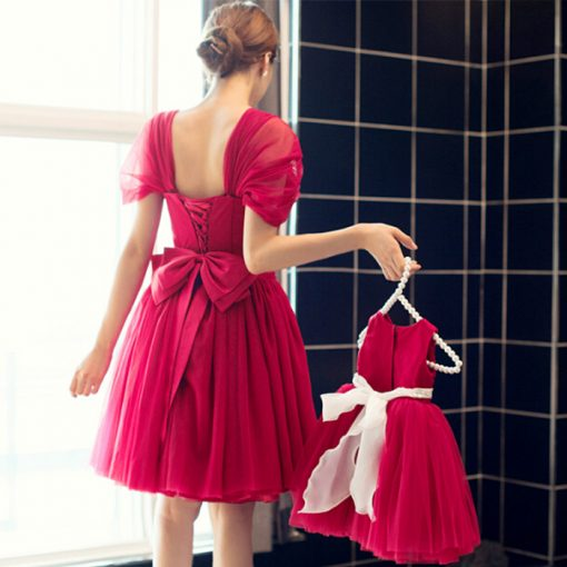 Mother and Daughter Matching Tutu Skirt Dress 2