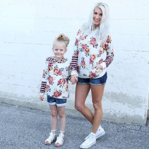 Cute Mother and Daughter Tops 4