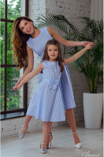Mother and Daughter Knee length Matching Dress 4