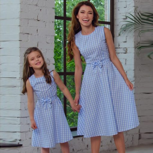 Mother and Daughter Knee length Matching Dress 3