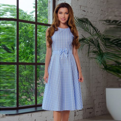 Mother and Daughter Knee length Matching Dress 2
