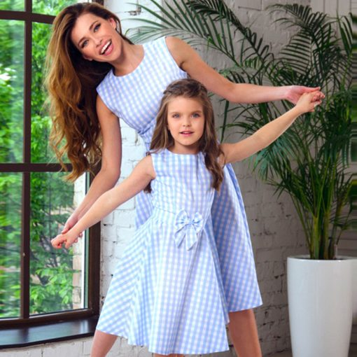 Mother and Daughter Knee length Matching Dress 1