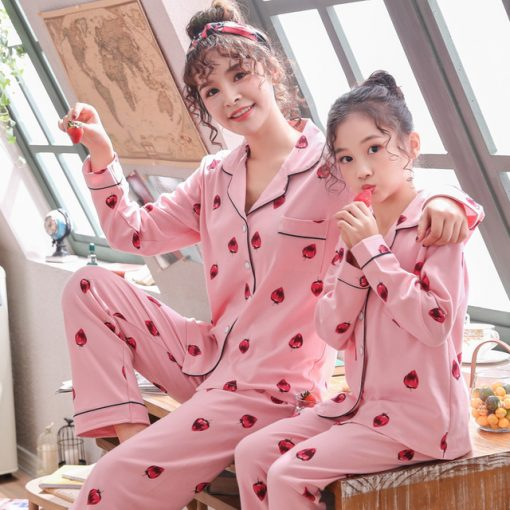Cozy Onesie Pajamas for Mother and Daughter 1